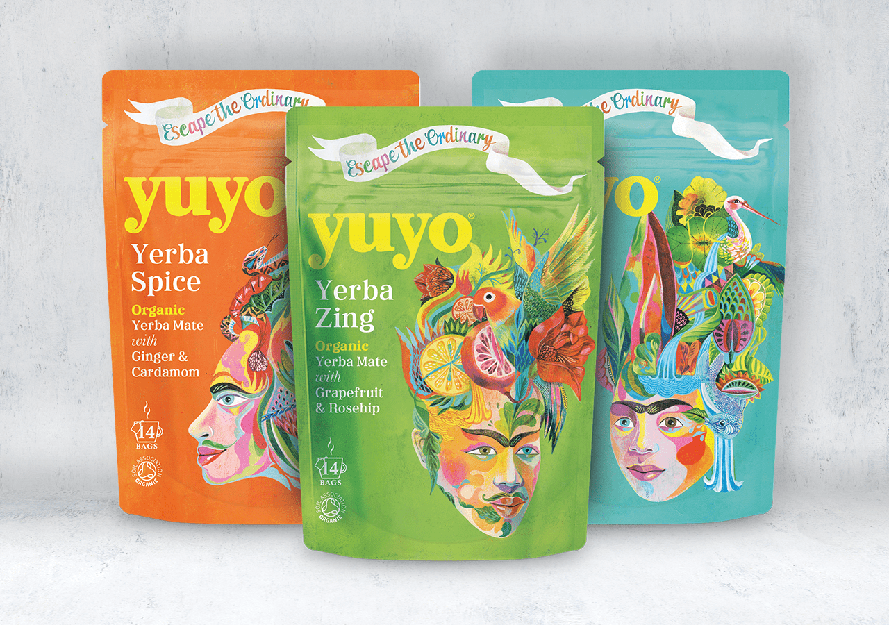 Yuyo yerba mate packaging design
