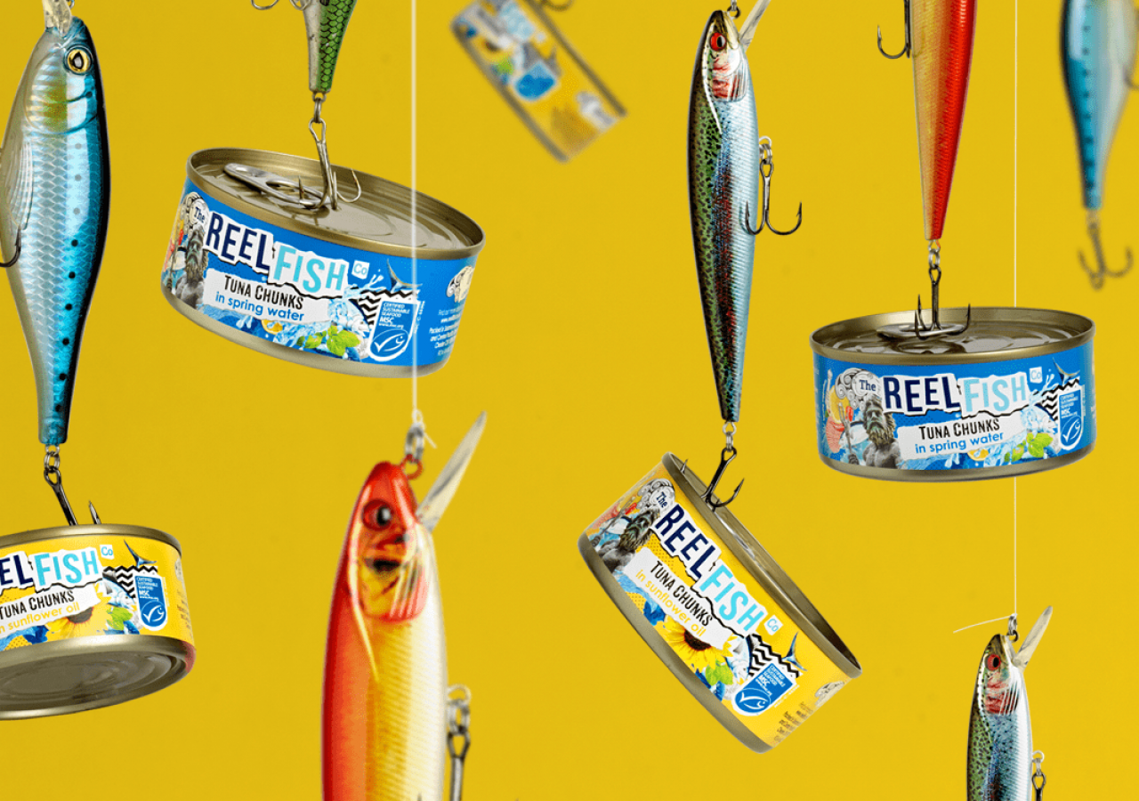 Reel Fish Tuna Rebrand Packaging Design Header