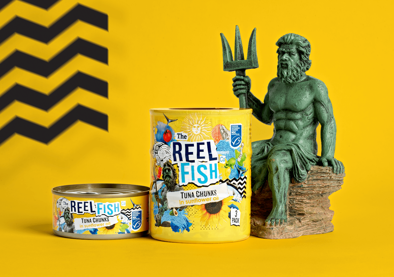 Reel Fish Tuna Rebrand Sunflower Oil Packaging Design