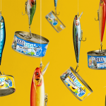 Reel Fish Tuna Rebrand Cans on Hooks