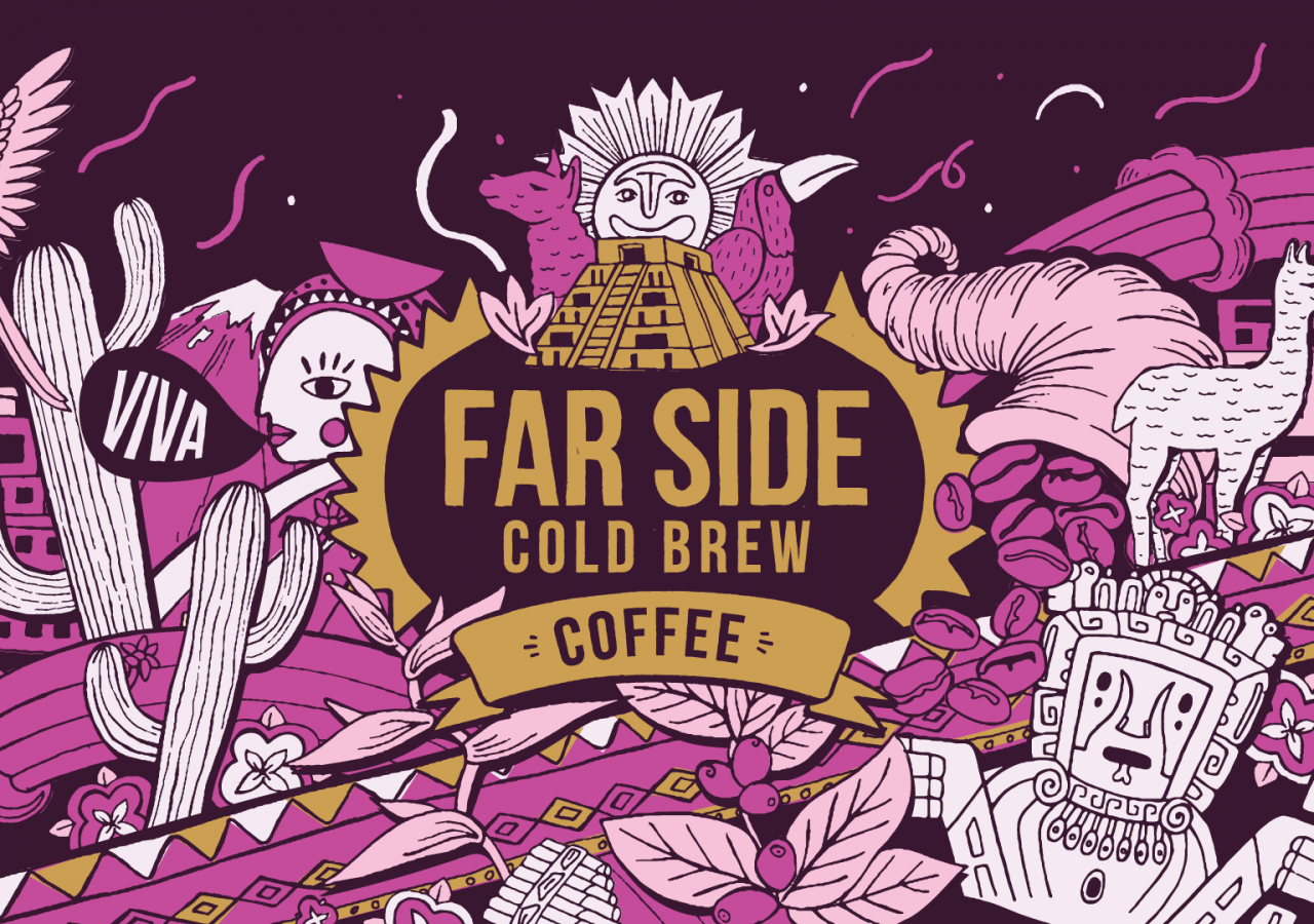 Farside Cold Brew Coffee Branding Illustration