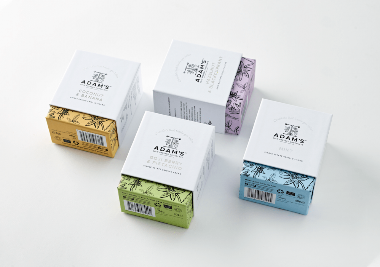 Adam's Chocolate rebrand gift box range